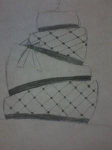 O desenho do meu bolo
