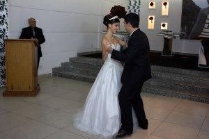 Dançando a valsa com o meu pai.