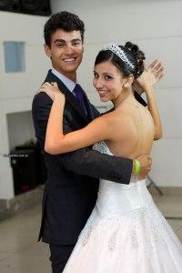 Dançando a valsa com o meu primo Pedro.