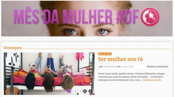 Imagem reprodução / blog Observatório Feminino