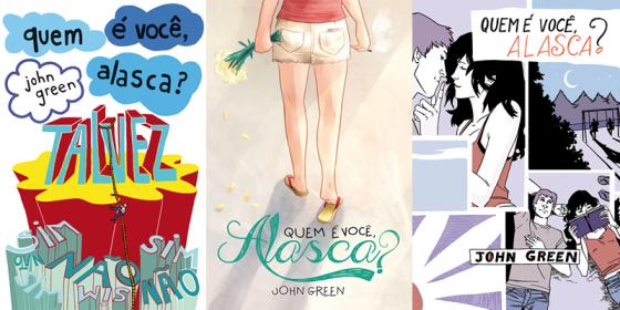 """As capas novas: da esquerda para a direita, """"Brochura"""", """"Capa Leitor"""" e """"Quadrinhos"""""""