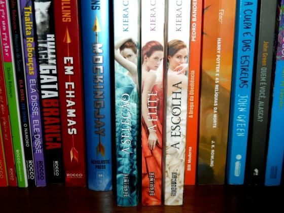 Detalhe da trilogia na minha estante