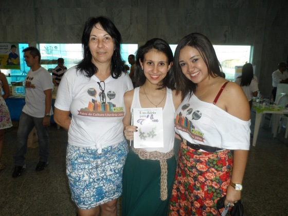 Com a Dirce e a Mari, organizadoras do evento!